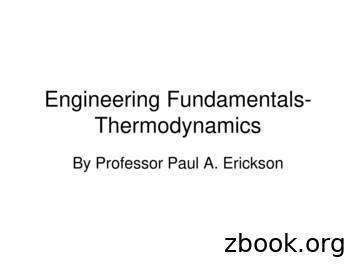 Engineering Fundamentals- Thermodynamics