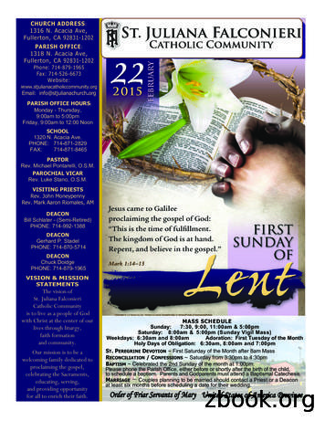 CHURCH ADDRESS 1316 N. Acacia Ave, Fullerton, CA 92831-1202