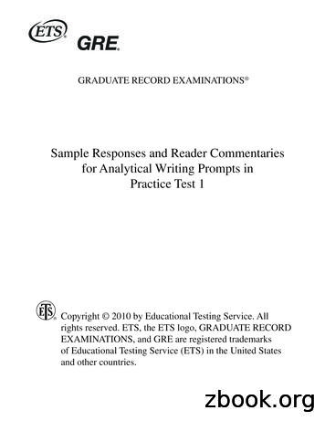 Sample Responses and Reader Commentaries for Analytical .