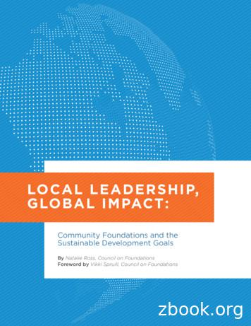 LOCAL LEADERSHIP, GLOBAL IMPACT