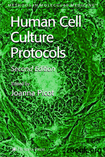 Human Cell Culture Protocols (Methods in Molecular .