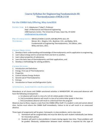 Course Syllabus for Engineering Fundamentals III .