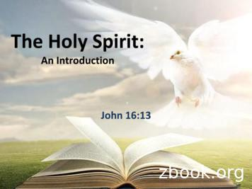 The Holy Spirit - South Logan church of Christ