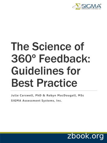 The Science of 360º Feedback: Guidelines for Best Practice