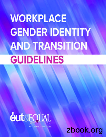 Workplace Gender Identity and Transition Guidelines