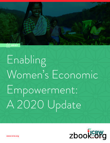 BRIEF Enabling Women's Economic Empowerment: A 2020 Update
