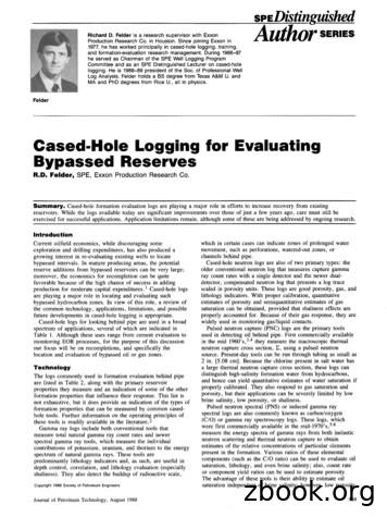 Cased-Hole Logging for Evaluating Bypassed Reserves