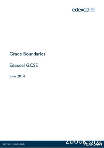 Grade Boundaries Edexcel GCSE - Pearson qualifications