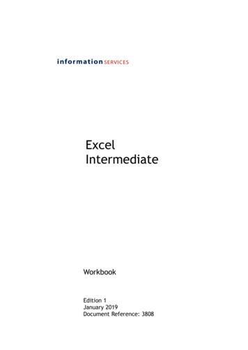 Excel Intermediate - University of Edinburgh