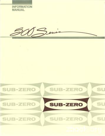 INFORMATION MANUAL - Sub-Zero