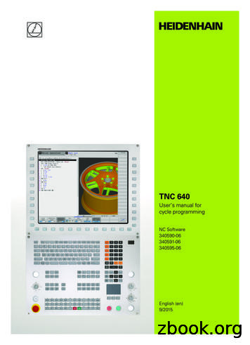 HEIDENHAIN TNC 640 User's manual for cycle programming .