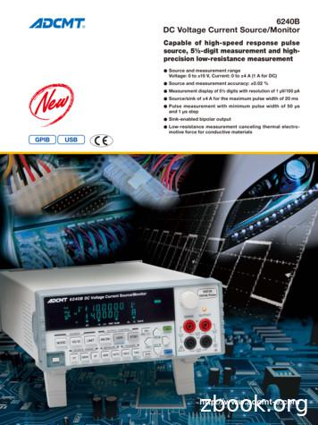 DC Voltage Current Source/Monitor