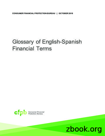 Glossary of English-Spanish financial terms