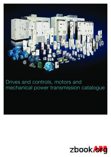 Drives and controls, motors and mechanical power .