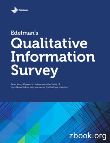 Edelman's Qualitative Information Survey