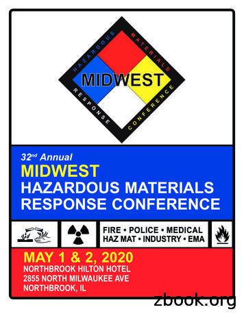 32 Annual MIDWEST HAZARDOUS MATERIALS RESPONSE CONFERENCE