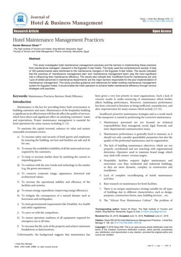 Journal of Hotel & Business Management