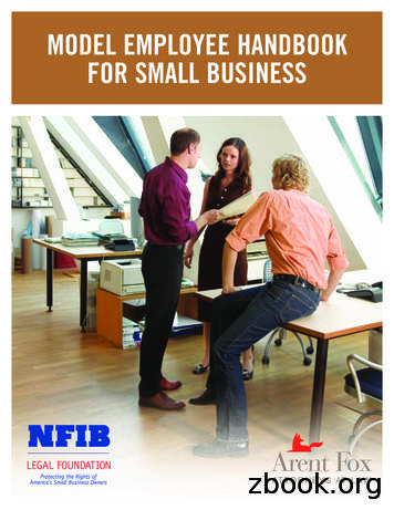 MODEL EMPLOYEE HANDBOOK FOR SMALL BUSINESS