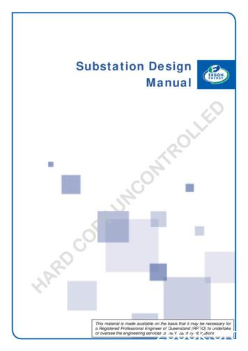 Substation Design Manual - Ergon Energy