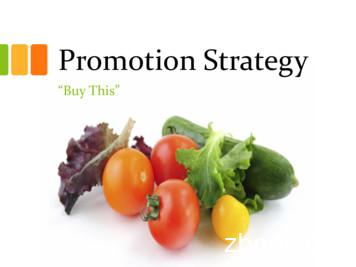 Promotion Strategy - Pennsylvania State University