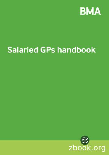Salaried GPs handbook - BMA