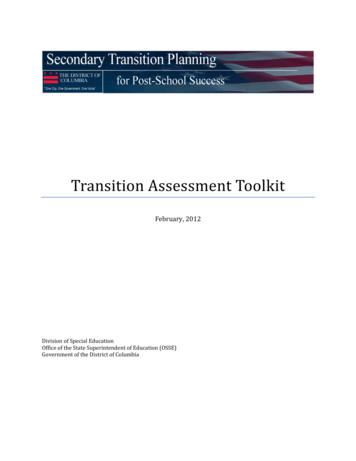 Transition Assessment Toolkit 2-15-12