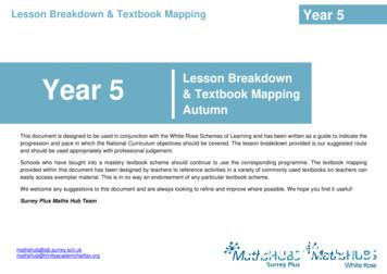 Year 5 Lesson Breakdown - theovalprimary.co.uk