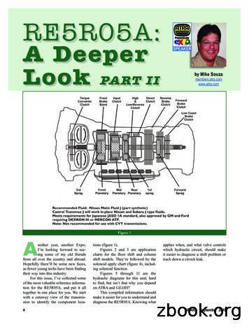 RE5R05A: A Deeper Look Part II RE5R05A: A Deeper