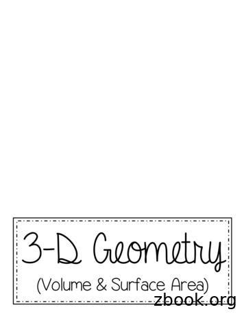 3 -D Geometry
