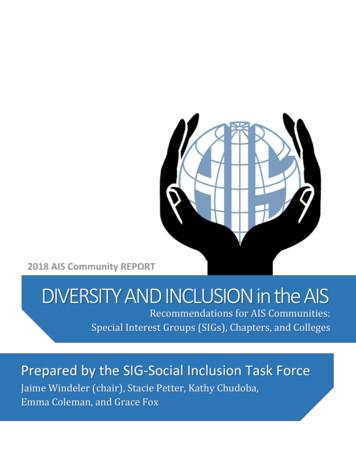 DIVERSITY AND INCLUSION in the AIS