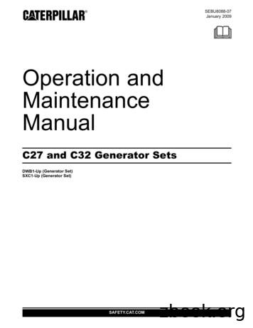Operation and Maintenance Manual - Altorfer