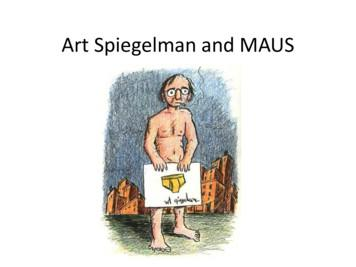 Art Spiegelman and MAUS - St Leonard's College