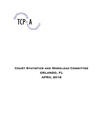 Court Statistics and Workload Committee ORLANDO, FL APRIL 2018