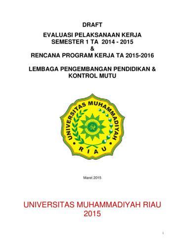 UNIVERSITAS MUHAMMADIYAH RIAU 2015