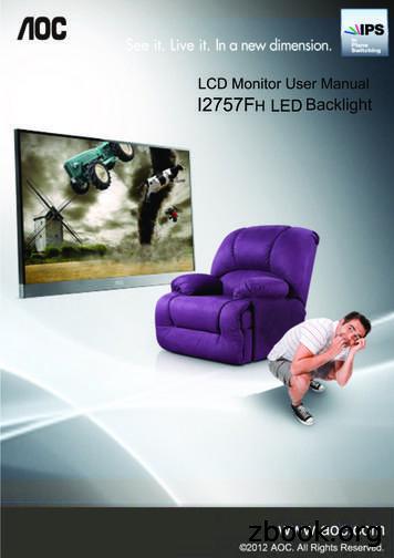 LCD Monitor User Manual I2757F LED Backlight