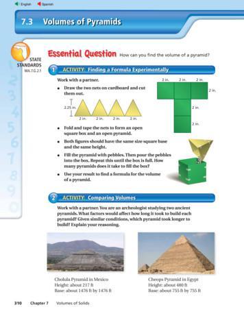 7.3 Volumes of Pyramids