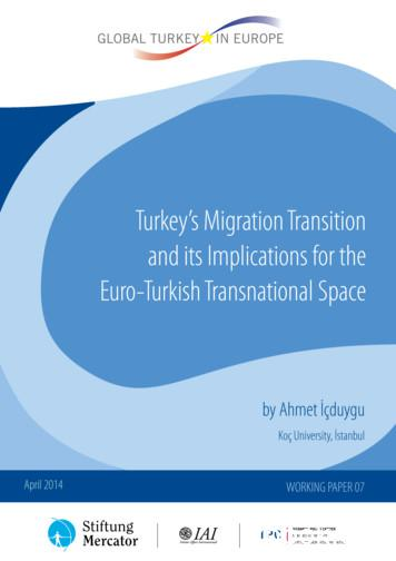 Turkey's Migration Transition and its Implications for the .