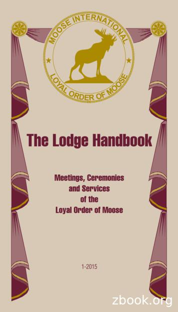 THE STORY OF THE - Moose Lodge