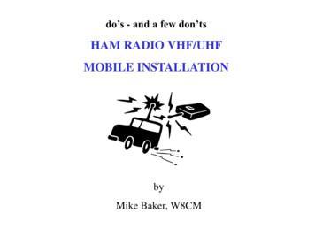HAM RADIO VHF/UHF MOBILE INSTALLATION