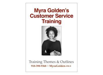 Myra Golden's Customer Service Training