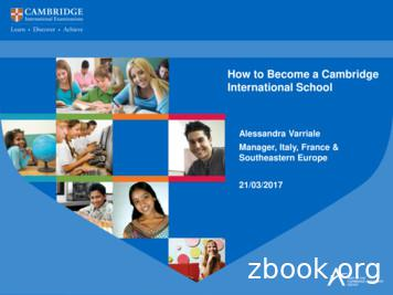 How to Become a Cambridge International School