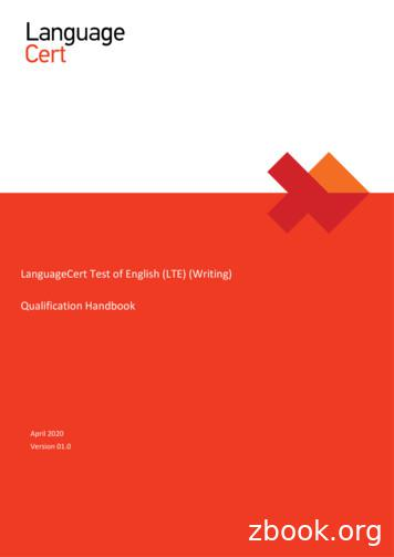 LanguageCert Test of English (LTE) (Writing) Qualification .