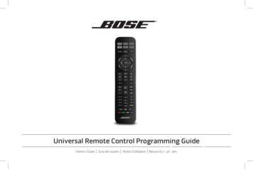 Universal Remote Control Programming Guide