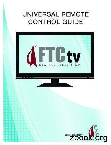 UNIVERSAL REMOTE CONTROL GUIDE - FTC