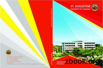 Prospectus 2019/2020 - St. Augustine University of Tanzania
