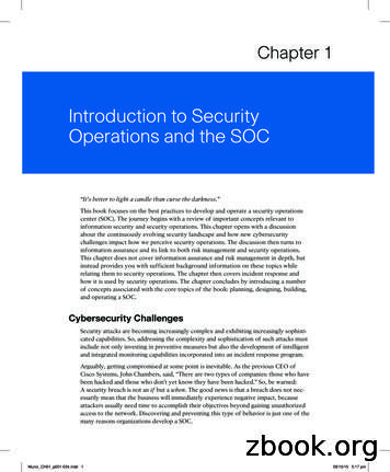 Introduction to Security Operations and the SOC