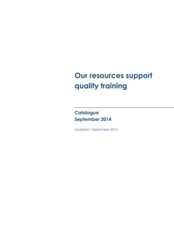 Our resources support quality training