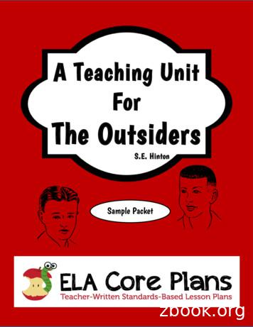 A Teaching Unit For The Outsiders - Home - Teacher-Written .