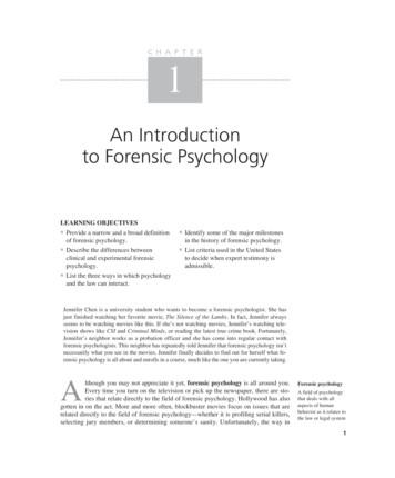 An Introduction to Forensic Psychology