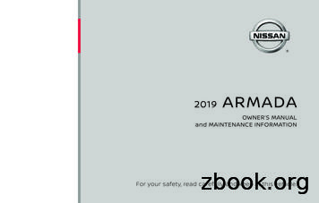 2019 Nissan Armada Owner's Manual and Maintenance .